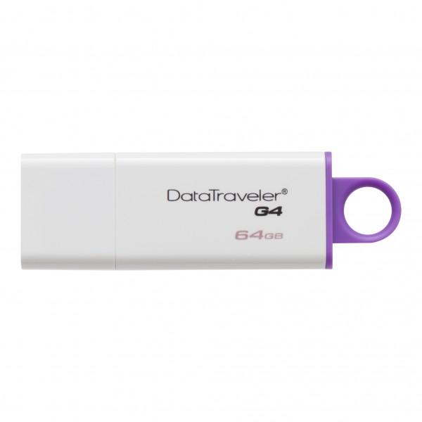 Memoria USB Kingston 64GB 3.0 DTIG4 Morado